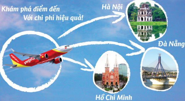 Hướng dẫn đặt vé máy bay giá rẻ Vietjet Air