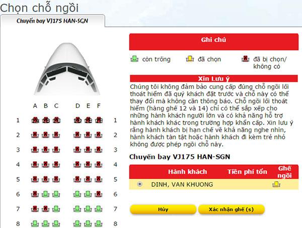 Check in online Vietjet