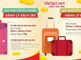 Quy định về kích thước hành lý ký gửi Vietjet