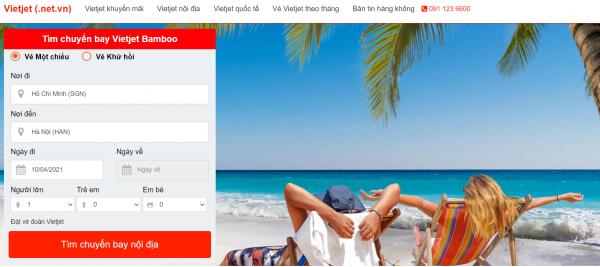 Đặt vé máy bay Tết giá rẻ tại Vietjet.net.vn